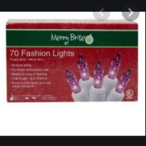 Merry Brite Christmas 70 fashion purple lights